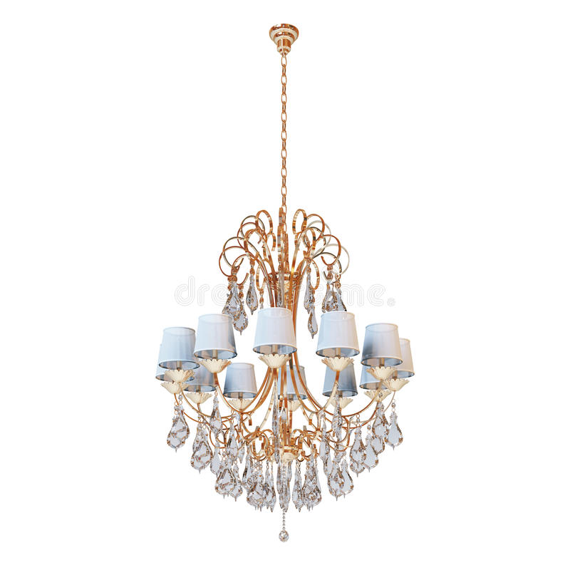 Chandelier. On a white background stock illustration