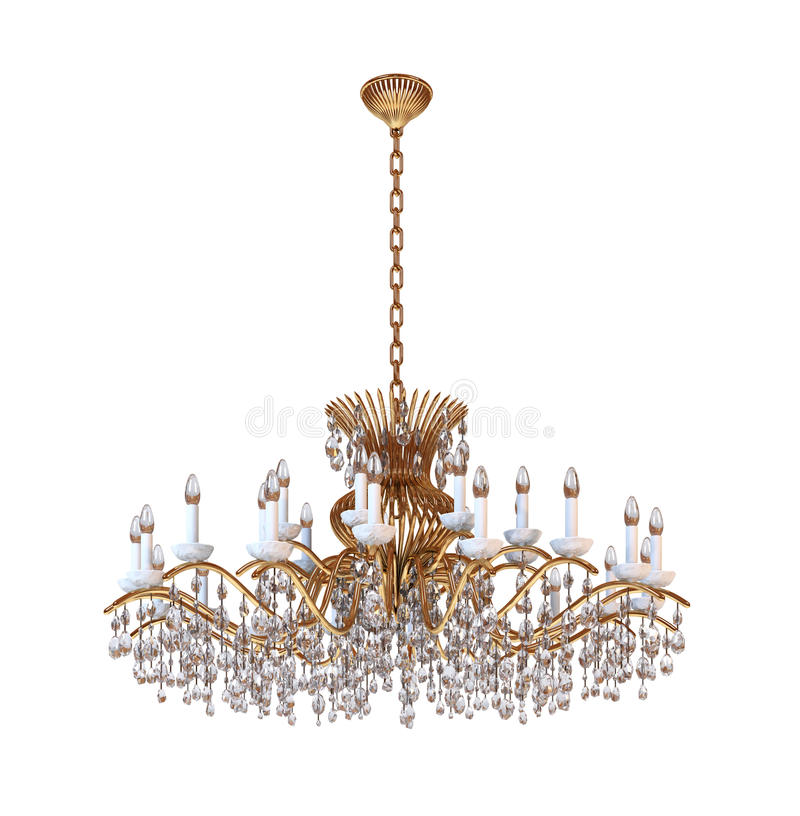 Chandelier. On a white background royalty free illustration