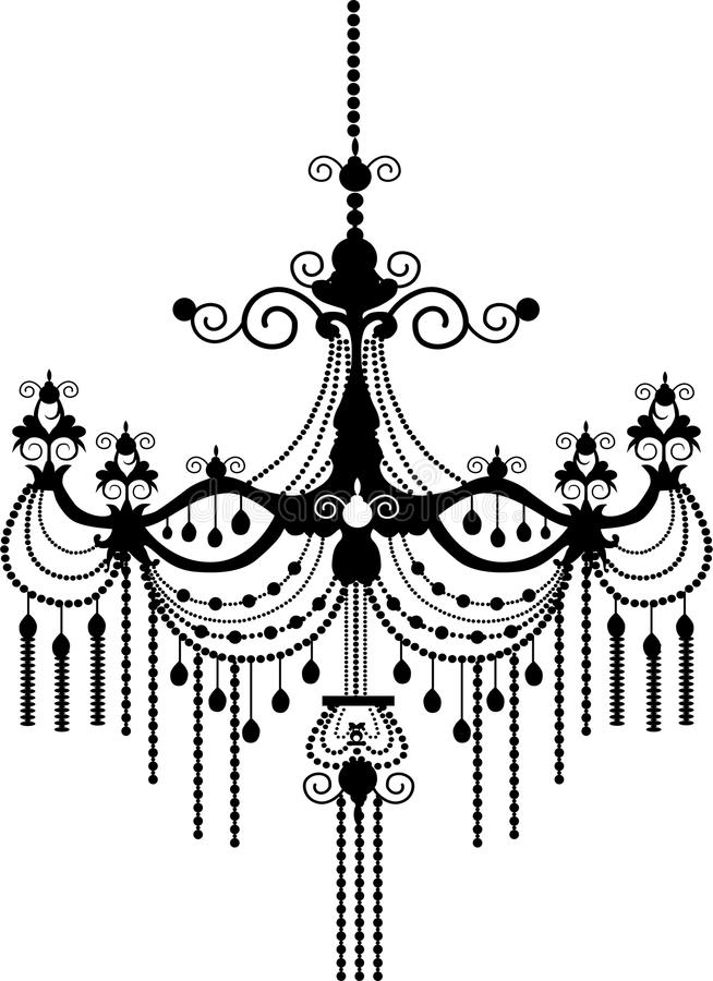 Chandelier royalty free illustration