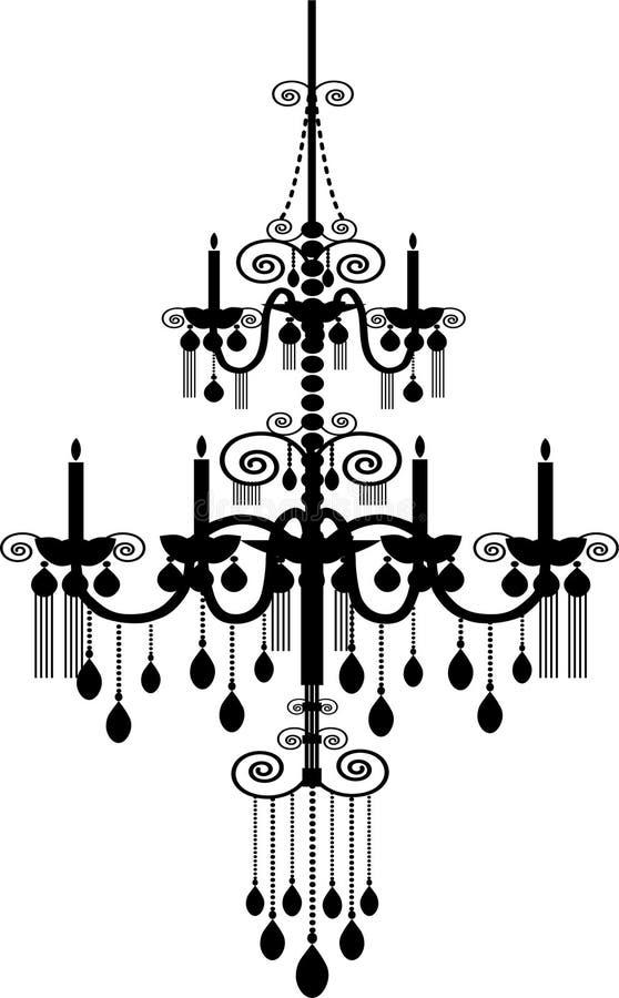 Chandelier. Stock Vector Illustration:black chandelier royalty free illustration