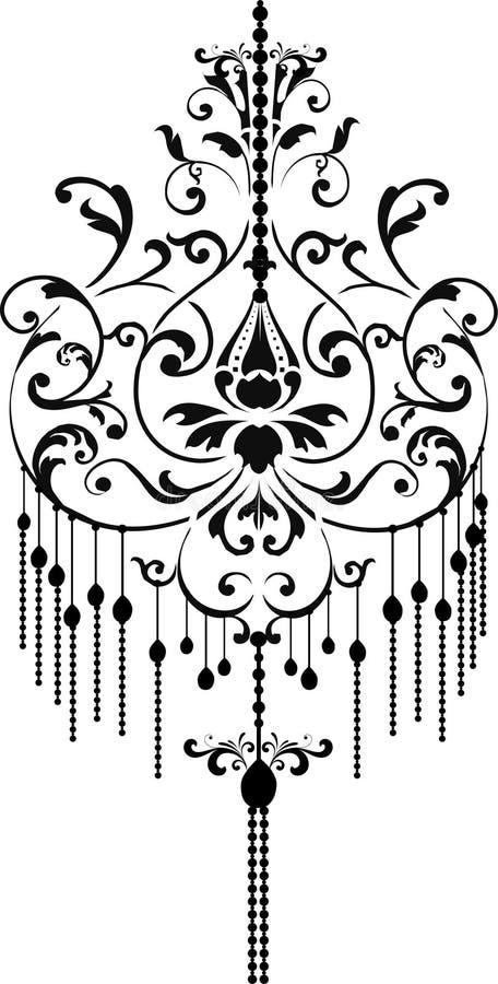 Chandelier. Stock Vector Illustration:black chandelier stock illustration