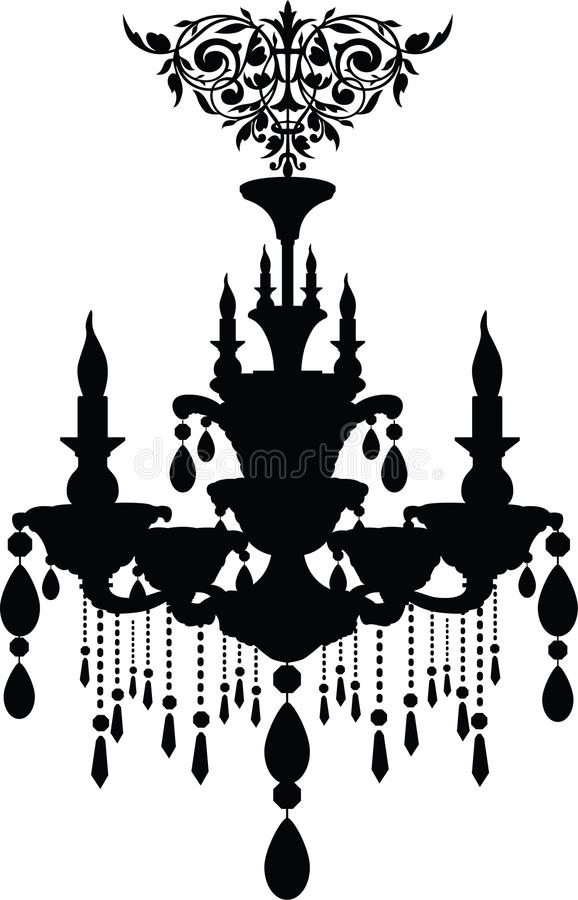 Chandelier. Stock Vector Illustration: Luxury chandelier stock illustration