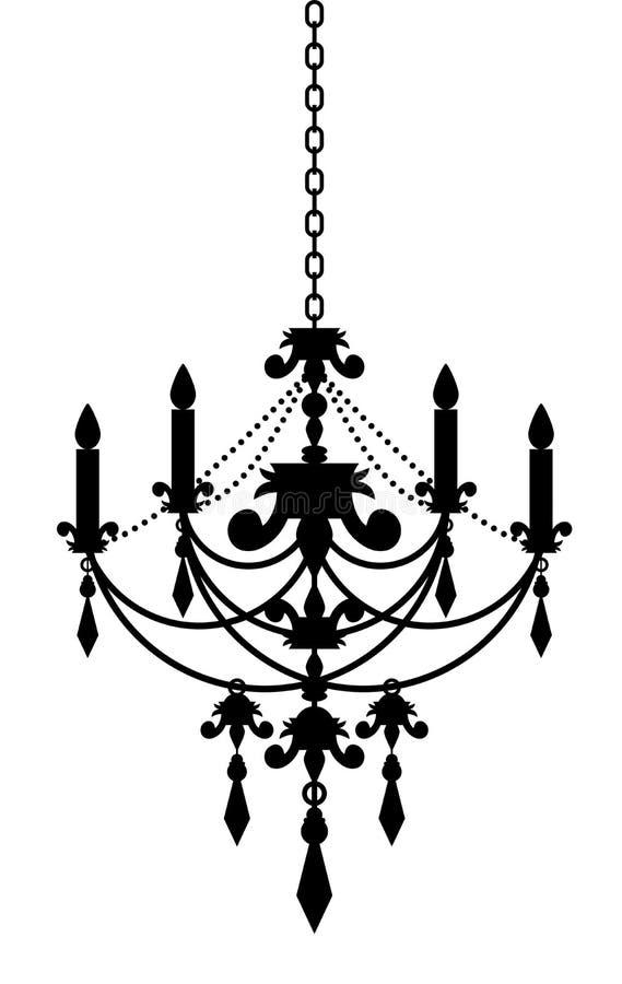 Chandelier. Vector illustration of black chandelier royalty free illustration