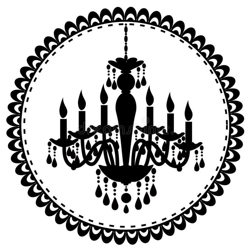Chandelier. An illustration of french chandelier stock illustration