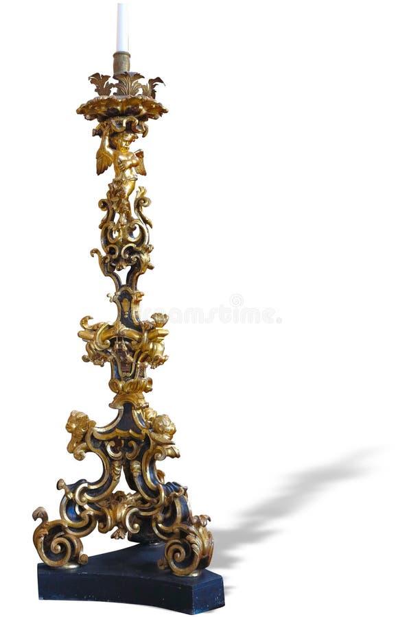 Chandelier antique en bronze de vintage avec d riche et sophistiqué photos stock