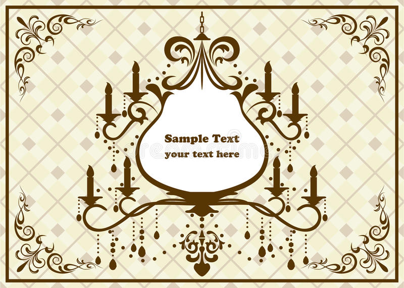 Download Chandelier brown frame stock vector. Illustration of birth - 19541839