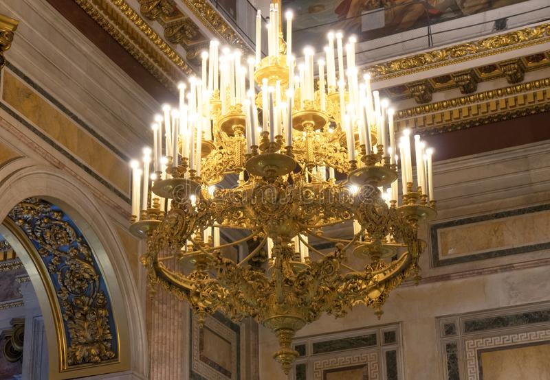 Chandelier with candles. royalty free stock image
