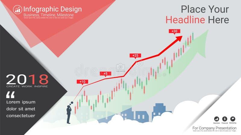 Chandelier d'affaires et diagramme financier de graphique illustration libre de droits