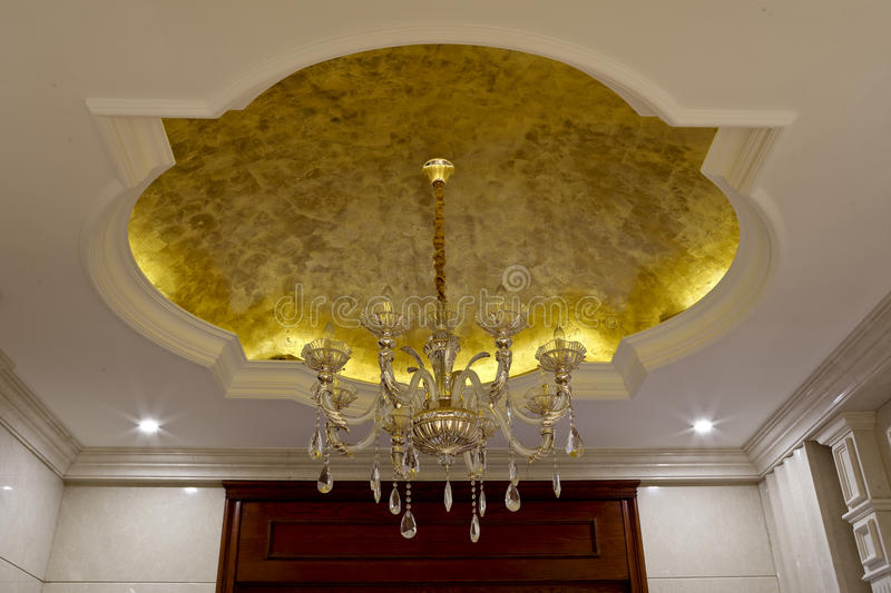 The chandelier hanging down from the golden roof stock photo image download the chandelier hanging down from the golden roof stock photo image of display aloadofball Image collections
