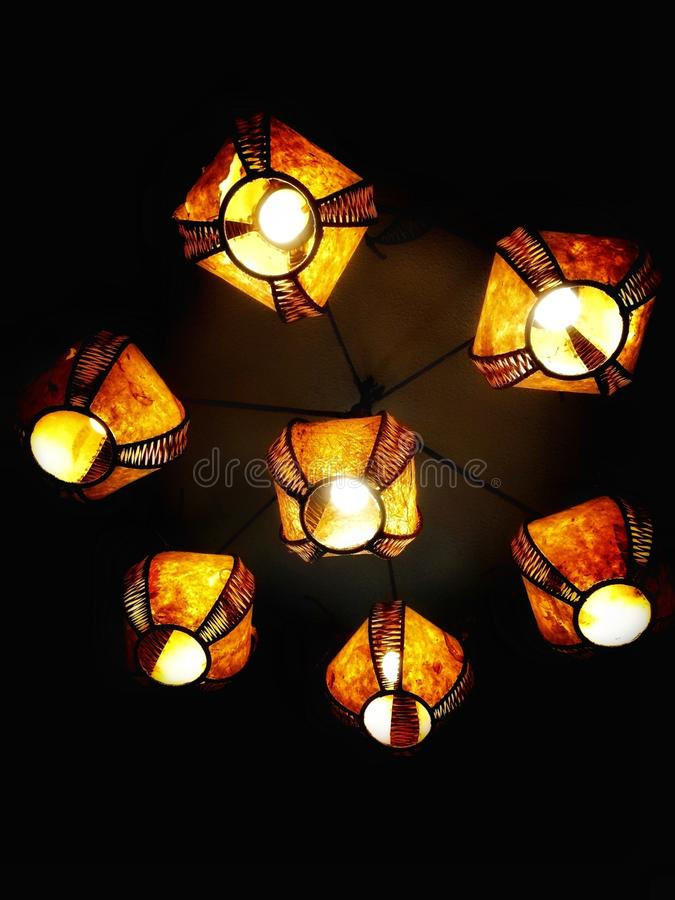 Chandelier. Image shows a beautiful and lightful chandelier. It represents that in a dim part of life, there are still light coming from our heart. That every royalty free stock photo