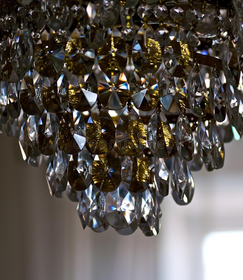 Free Chandelier In A Dark Room. Royalty Free Stock Image - 24131556