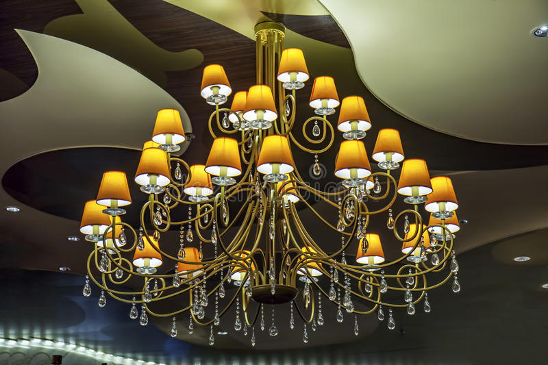 Chandelier Lamps stock images