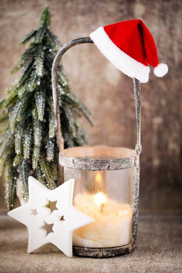 Chandelier Lanterne de Noël Décoration de Cristmas, saluant le Ca photos libres de droits