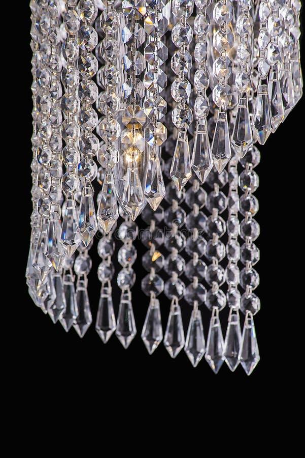 Chandelier light in interior, Chrystal chandelier close-up.crystal part from chandelier,chandelier, lighting, equipment, luxury,. Chandelier light in interior stock images