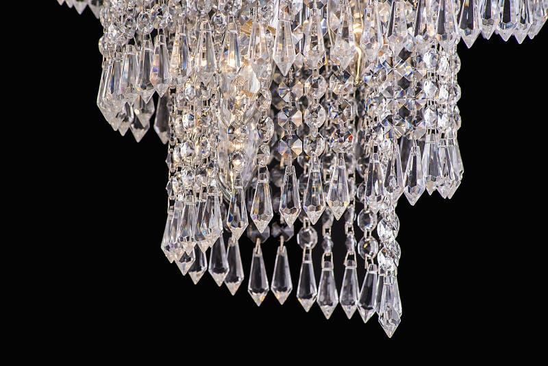 Chandelier light in interior, Chrystal chandelier close-up.crystal part from chandelier,chandelier, lighting, equipment, luxury,. Chandelier light in interior royalty free stock photos
