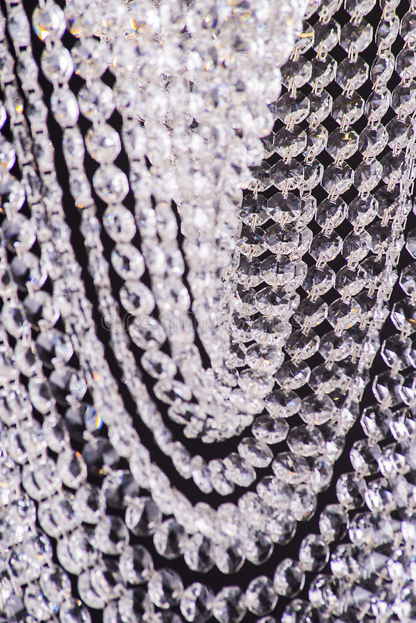 Chandelier light in interior, Chrystal chandelier close-up.crystal part from chandelier,chandelier, lighting, equipment, luxury,. Chandelier light in interior royalty free stock images
