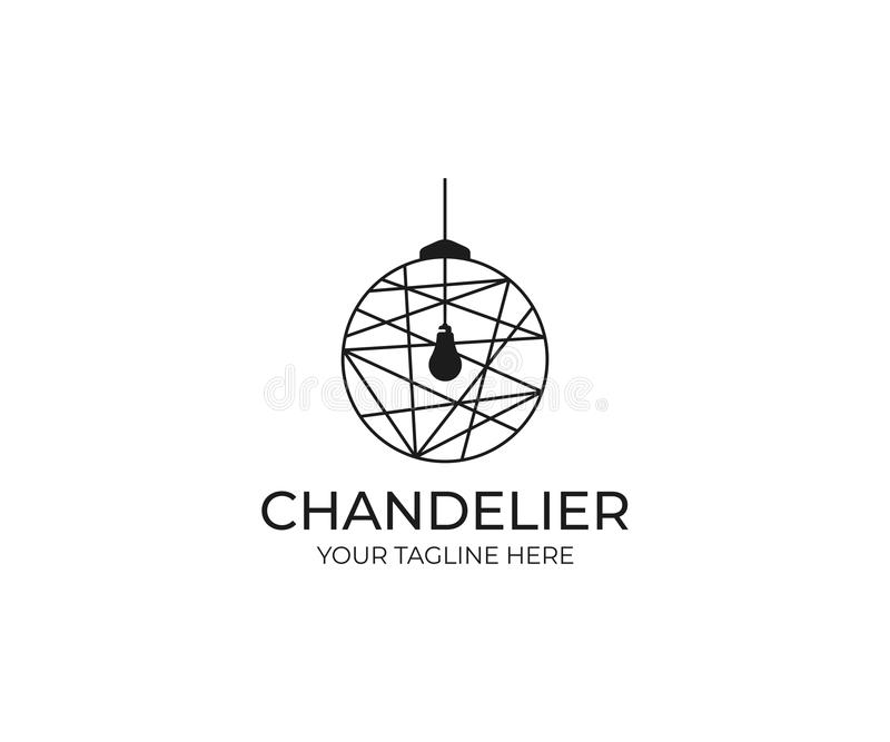 Chandelier logo template luminaire vector design stock vector download chandelier logo template luminaire vector design stock vector illustration of line chandelier mozeypictures Choice Image