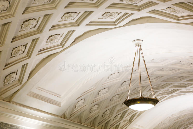 Chandelier in Moscow metro royalty free stock photo