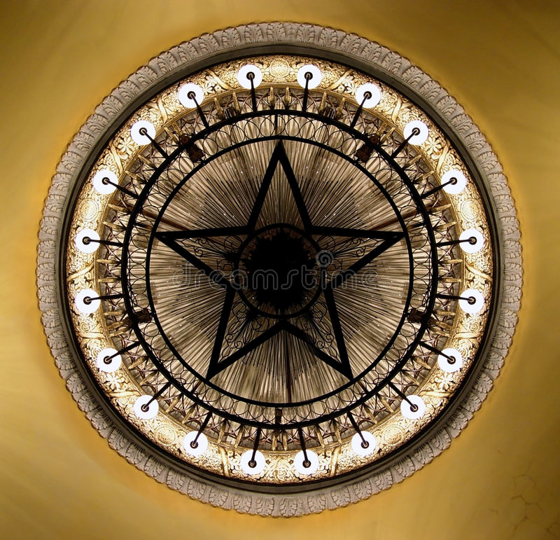 Chandelier in the Moscow theater stock image