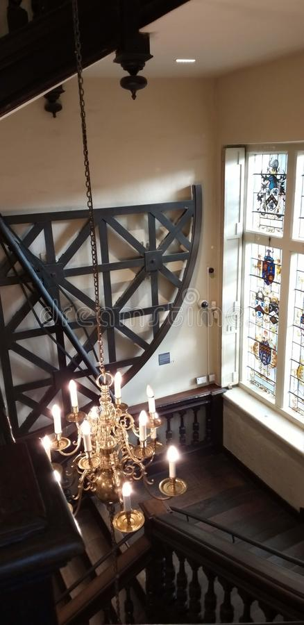 A chandelier in museum at Oxford. royalty free stock image