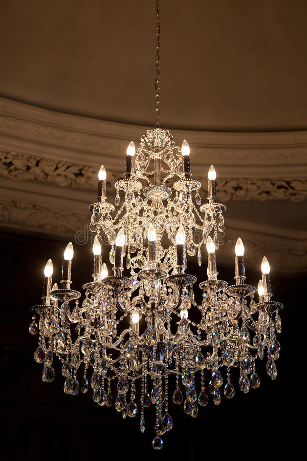 Chandelier stock images
