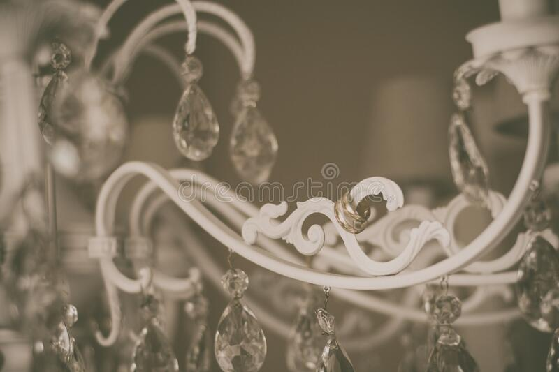 Chandelier with rings stock images