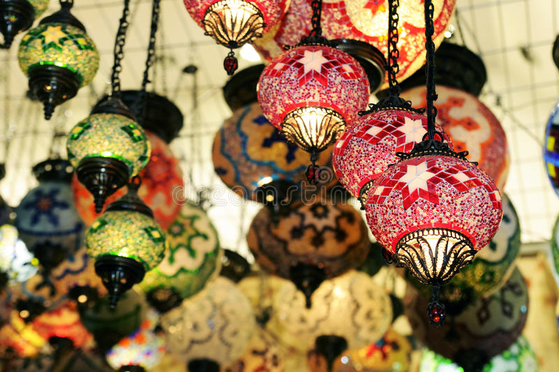 Chandelier shop stock photography