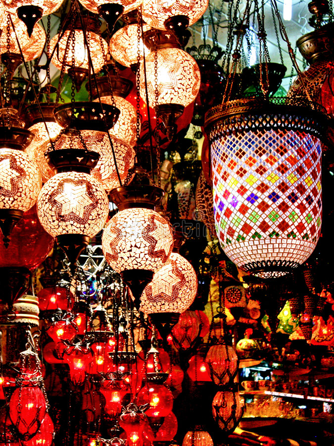 Chandelier Shop Royalty Free Stock Images