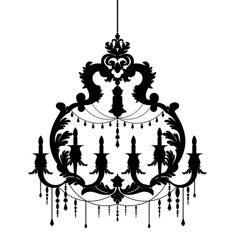 Chandelier silhouette isolated on white background stock vector download chandelier silhouette isolated on white background stock vector illustration of elegance antique aloadofball Images