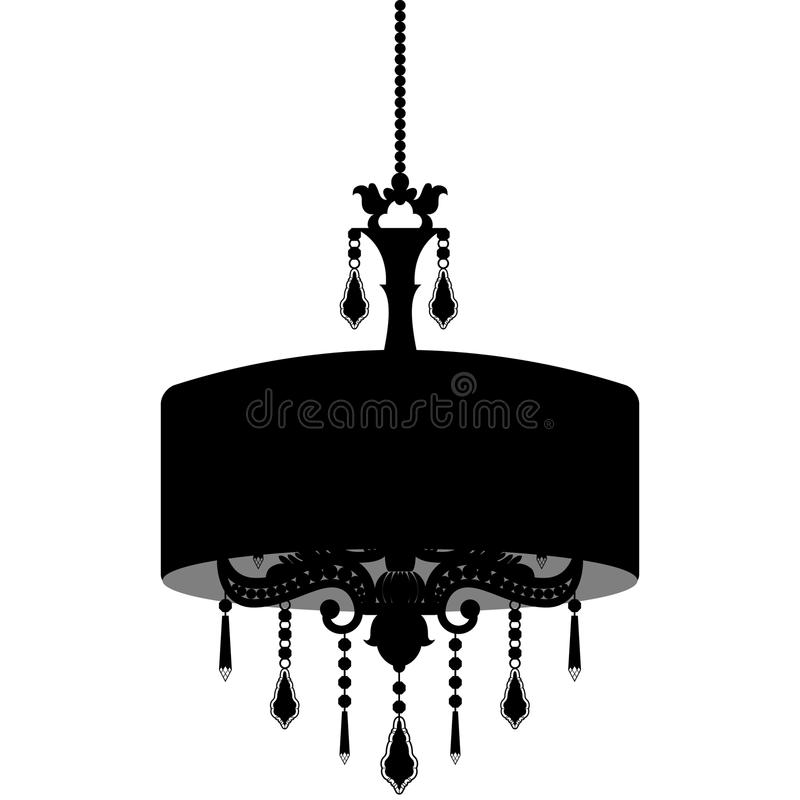 Chandelier silhouette isolated on white background stock vector download chandelier silhouette isolated on white background stock vector illustration of glamour candlelight mozeypictures Images