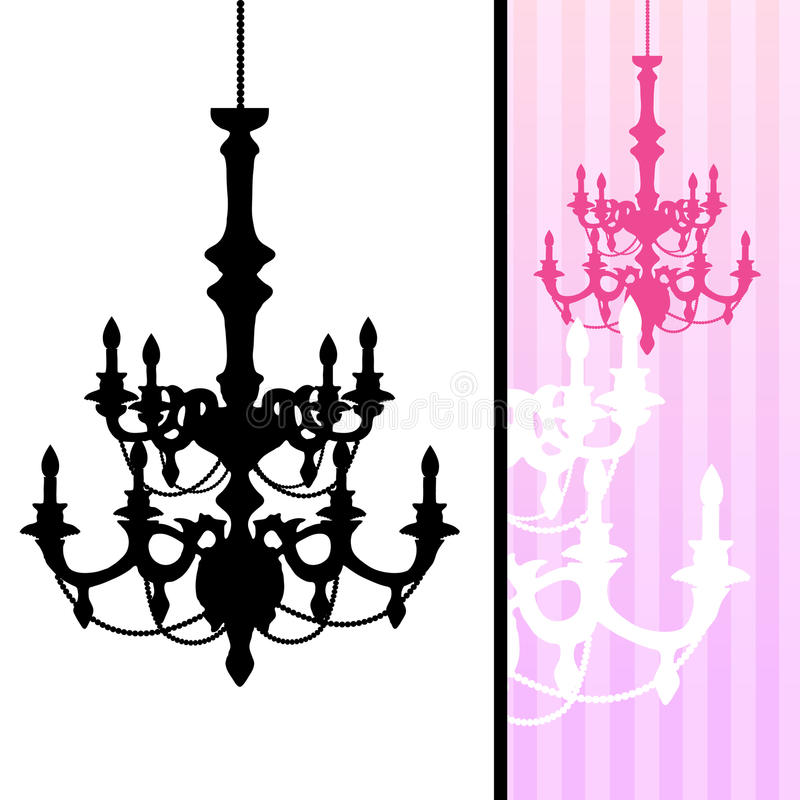 Download Chandelier On Striped Background Stock Vector - Illustration: 10745639