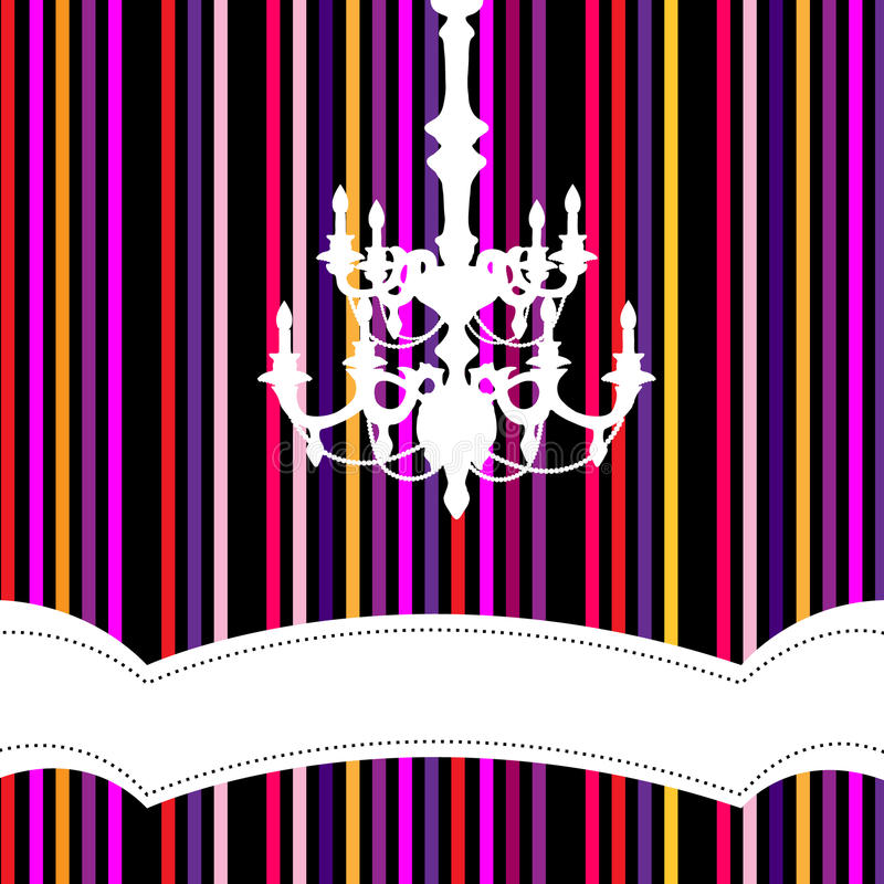 Download Chandelier With Striped Background Stock Vector - Image: 11765078