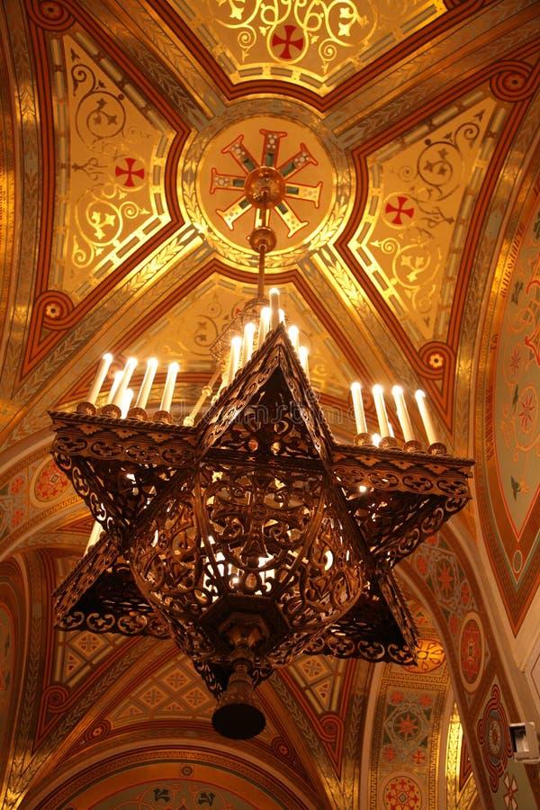 Download Chandelier under dome stock photo. Image of light, golden - 8370162