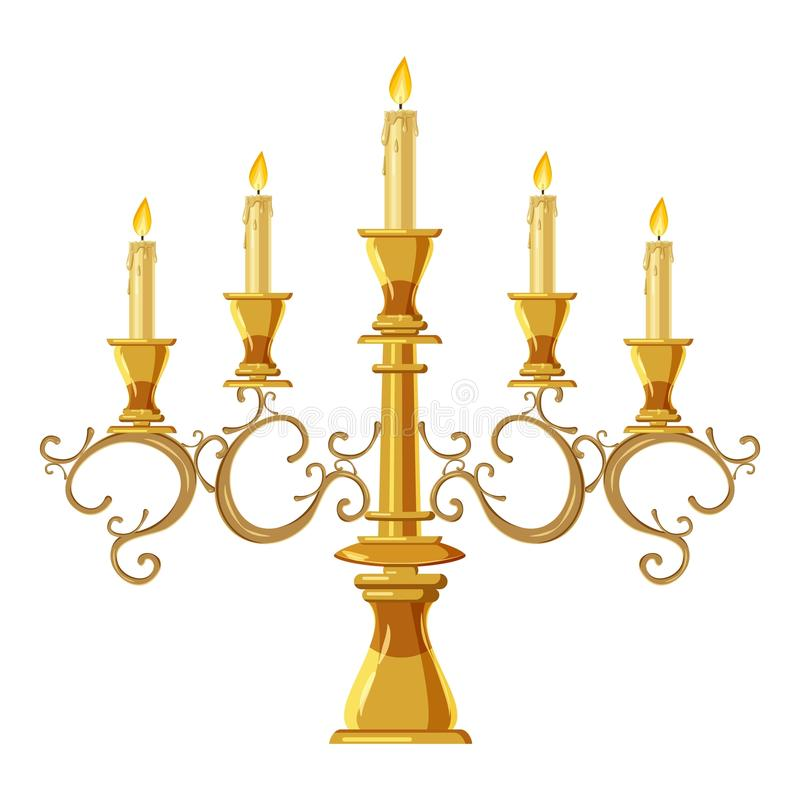Free Chandelier With Five Candles Icon, Cartoon Style Royalty Free Stock Images - 120261659