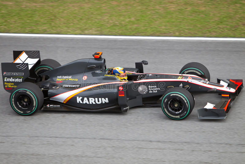 Chandhok no Malaysian F1 imagens de stock royalty free