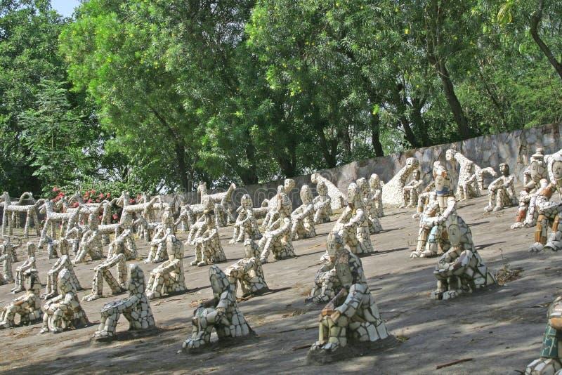 chandigarh庭院印度岩石 库存图片