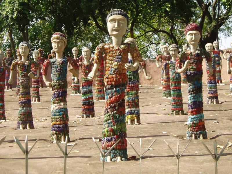 chandigarh庭院印度岩石 免版税图库摄影
