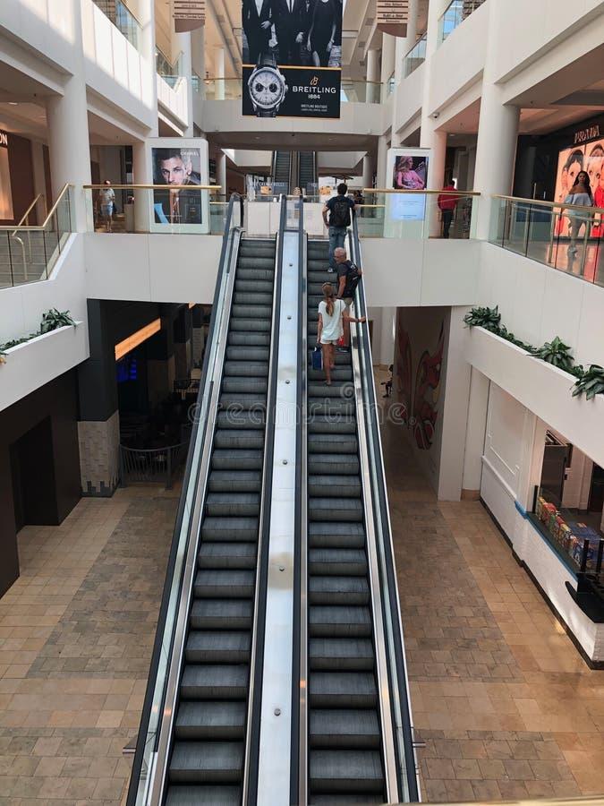 Chandler Center Escalator imagens de stock royalty free