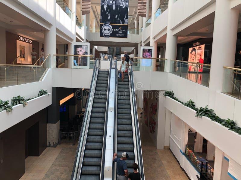 Chandler Center Escalator imagem de stock royalty free