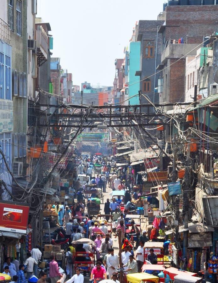 Chandni Chowk Market in New Delhi, India royalty free stock image