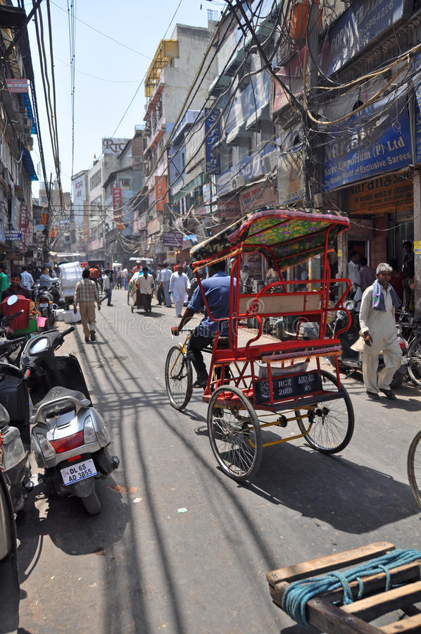 Chandni Chowk Market in Old Delhi, India stock images