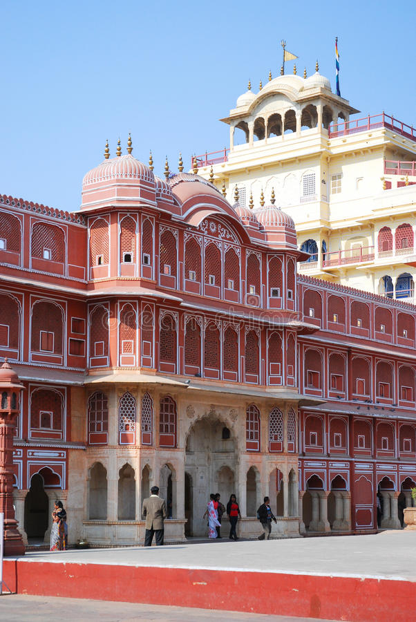 Chandra Mahal στο παλάτι πόλεων του Jaipur στοκ φωτογραφία