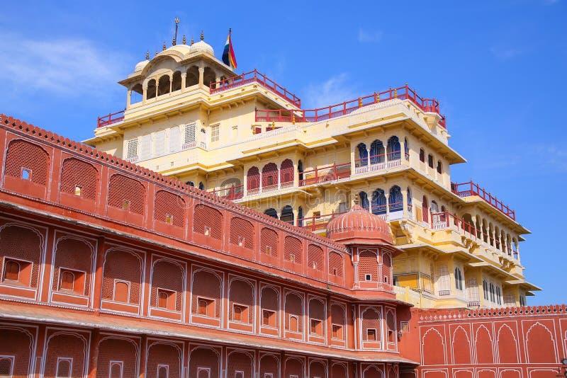 Chandra Mahal в дворце города Джайпура, Раджастхане, Индии стоковая фотография rf