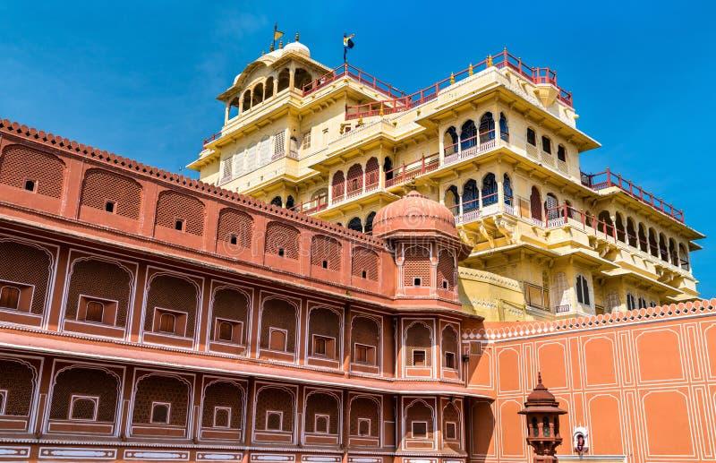 Chandra Mahal на комплексе дворца города Джайпура - Раджастхан, Индия стоковое фото