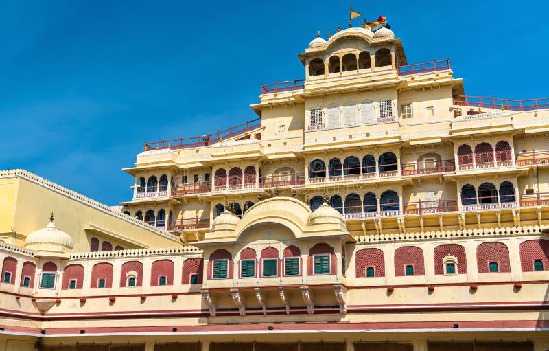 Chandra Mahal на комплексе дворца города Джайпура - Раджастхан, Индия стоковые изображения