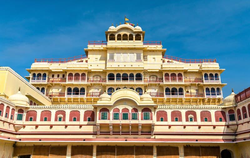 Chandra Mahal на комплексе дворца города Джайпура - Раджастхан, Индия стоковая фотография