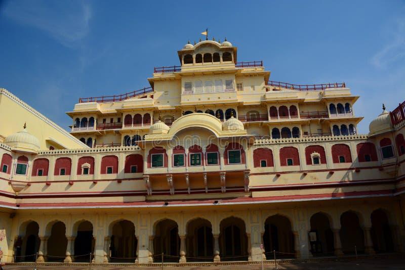 Chandra Mahal Città Palace jaipur Il Ragiastan L'India immagini stock libere da diritti