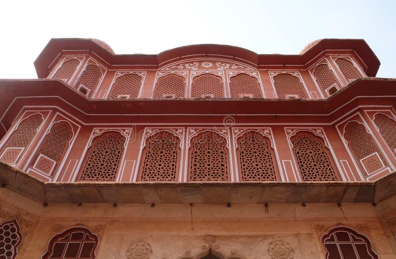 Chandra Mahal en el palacio de la ciudad de Jaipur, la India fotos de archivo libres de regalías