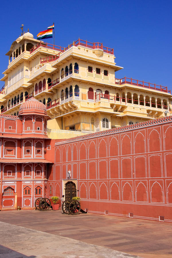 Chandra Mahal in Jaipur City Palace, Rajasthan, India royalty free stock photography