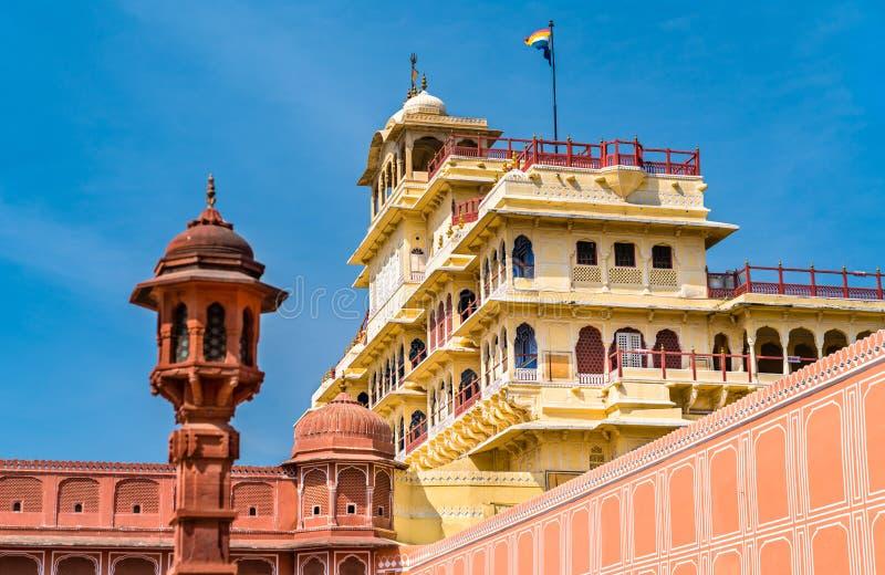 Chandra Mahal przy Jaipur miasta pałac kompleksem - Rajasthan, India zdjęcie royalty free
